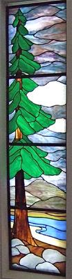 Redwood tree stained glass