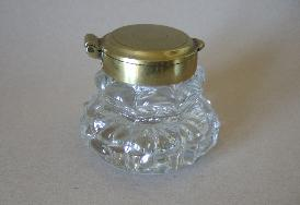 Crystal and Bronze Inkwell