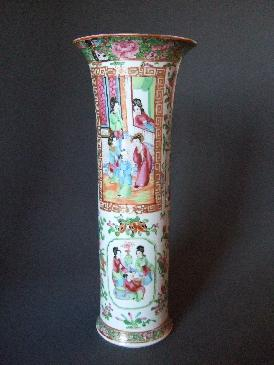 Chinese Export Rose Canton Famille vase